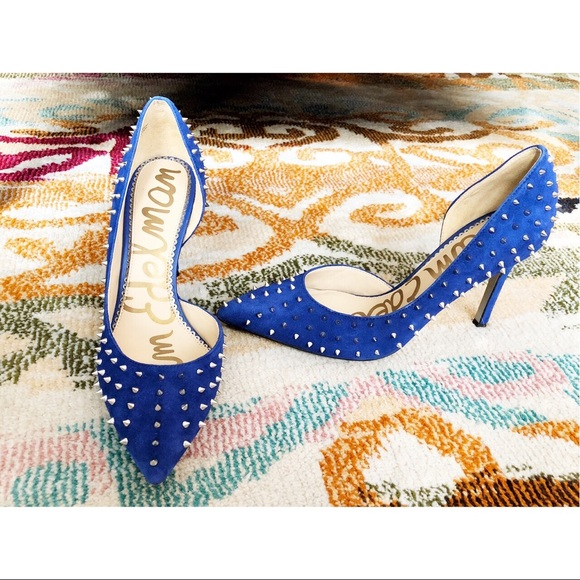 5a86e60cd3bc Sam Edelman Studded Blue Hadlee d Orsay Pumps. M 5be76786a31c338116b4a30d
